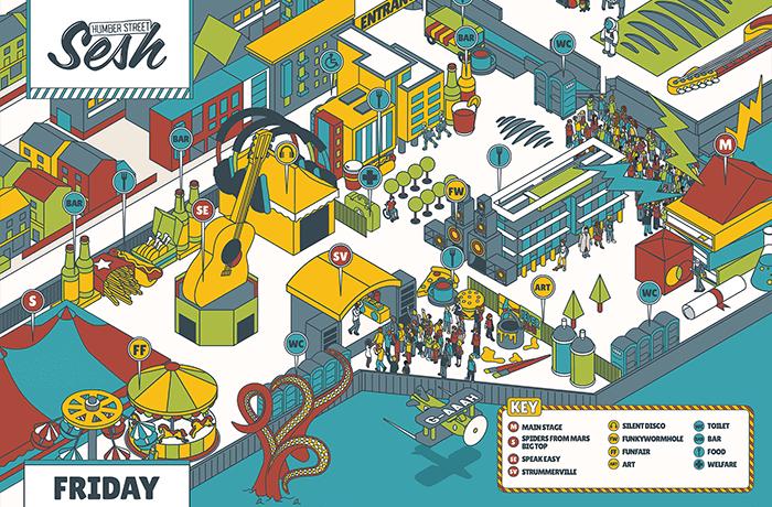 Festival Map - Friday